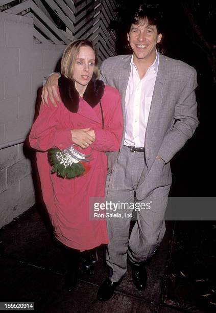 Actor Tim Matheson and wife Megan Murphy Matheson attend the New Year's Eve Party on December 31 1990 at Spago in West Hollywood California