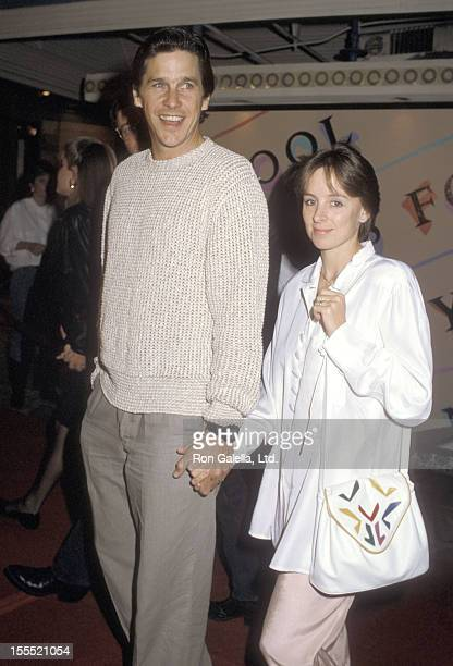 Actor Tim Matheson and wife Megan Murphy Matheson attend the Nobody's Fool Westwood Premiere on November 3 1986 at Mann Village Theatre in Westwood...