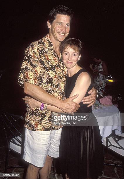 Actor Tim Matheson and wife Megan Murphy Matheson attend the Second Annual RitzCarlton Mauna Lani Celebrity Sports Invitational on May 13 1992 a...