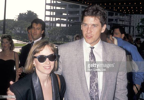 Actor Tim Matheson and wife Megan Murphy Matheson attend the See No Evil Hear No Evil Century City Premiere on May 7 1989 at Cineplex Odeon Century...