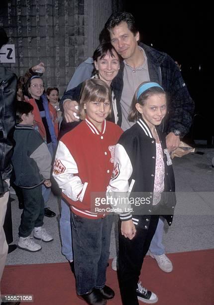 Actor Tim Matheson wife Megan Murphy Matheson and daughters Molly Matheson and Emma Matheson attend the Beverly Hills Ninja Westwood Premiere on...