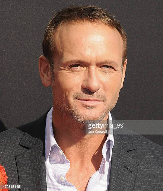 Actor Tim McGraw arrives at the Los Angeles Premiere of Disney's Tomorrowland at AMC Downtown Disney on May 9 2015 in Lake Buena Vista Florida