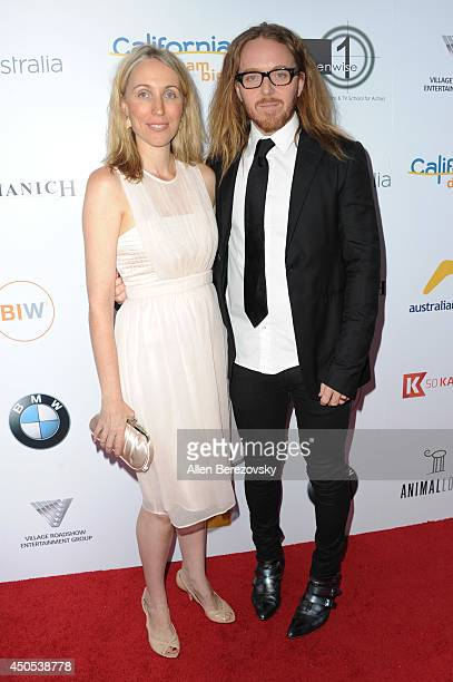 Actor Tim Minchin and wife Sarah Minchin arrive at The Ledger Family and Australians In Film's 6th anniversary of The Scholarship and The Legacy of...