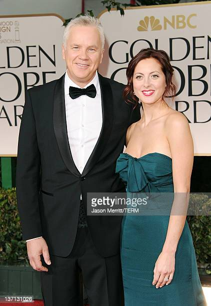 Actor Tim Robbins and actress Eva Amurri arrive at the 69th Annual Golden Globe Awards held at the Beverly Hilton Hotel on January 15 2012 in Beverly...