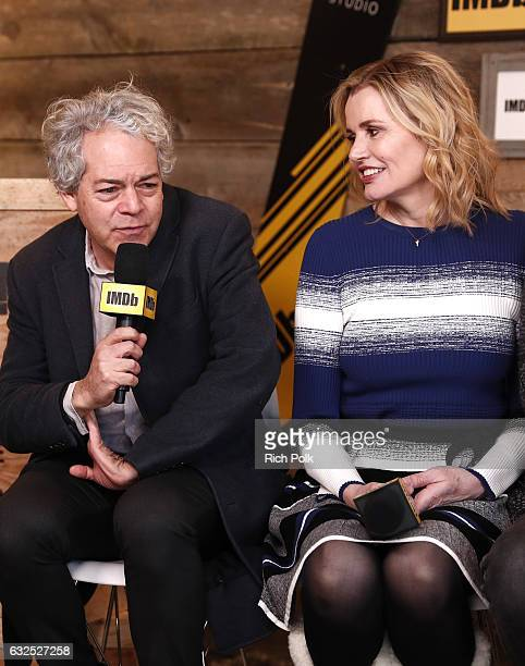 Actor Tim Robbins and Jon Hamm of Marjorie Prime attend The IMDb Studio featuring the Filmmaker Discovery Lounge presented by Amazon Video Direct Day...