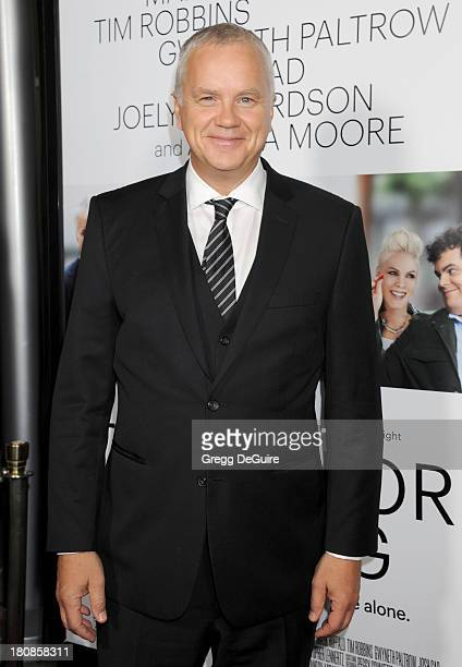 Actor Tim Robbins arrives at the Los Angeles premiere of 'Thanks For Sharing' at ArcLight Hollywood on September 16 2013 in Hollywood California