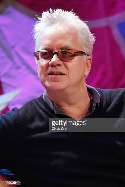 Actor Tim Robbins attends the Little Steven's Underground Garage 500th show celebration at the Hard Rock Cafe New York on October 21 2011 in New York...