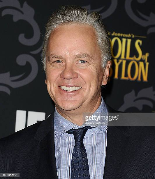"Actor Tim Robbins attends the premiere of IFC's ""The Spoils Of Babylon"" at DGA Theater on January 7, 2014 in Los Angeles, California."