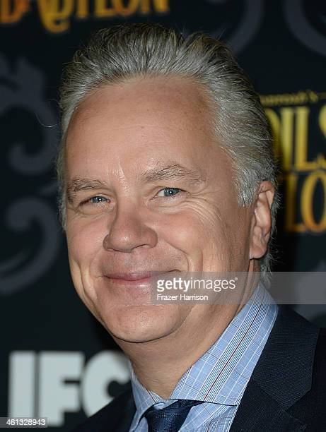 Actor Tim Robbins attends the screening of IFC's The Spoils Of Babylon at DGA Theater on January 7 2014 in Los Angeles California