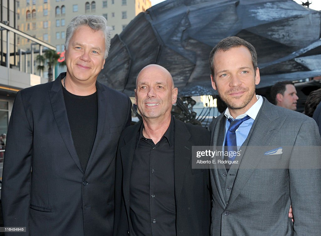 Actor Tim Robbins, director Martin Campbell and actor Peter Sarsgaard arrive at the premiere of Warner Bros. Pictures' 'Green Lantern' held at Grauman's Chinese Theatre on June 15, 2011 in Hollywood, California.