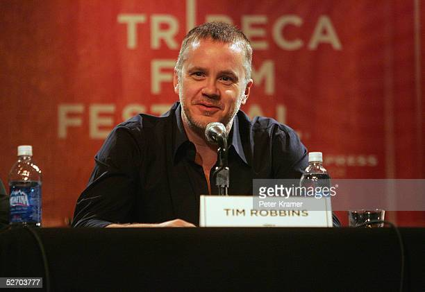 Actor Tim Robbins speaks at 'The Soundtrack' panel part of the Tribeca Talks program during the Tribeca Film Festival at the Knitting Factory April...