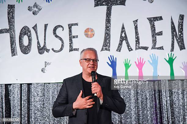 Actor Tim Robbins speaks during the White House Turnaround Arts Talent Show at the White House May 25 2016 in Washington DC The Turnaround program is...