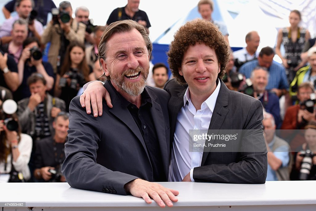 Actor Tim Roth (L) and director Michel Franco attend the 'Chronic' Photocall during the 68th annual Cannes Film Festival on May 22, 2015 in Cannes, France.