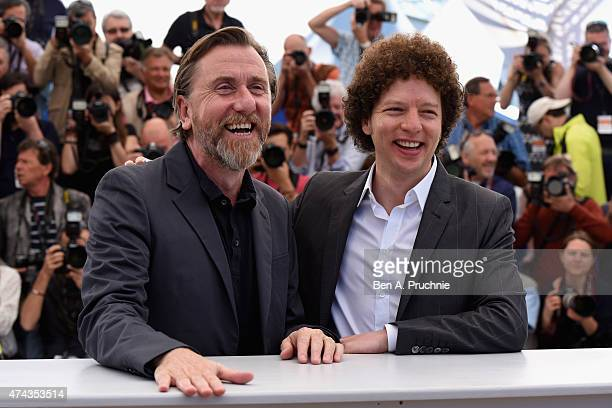 Actor Tim Roth and director Michel Franco attend the 'Chronic' Photocall during the 68th annual Cannes Film Festival on May 22 2015 in Cannes France