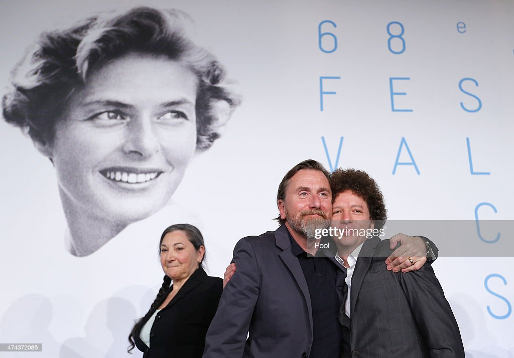 Actor Tim Roth (L) and Michel Franco attend the press conference for 'Chronic' during the 68th annual Cannes Film Festival on May 22, 2015 in Cannes, France.