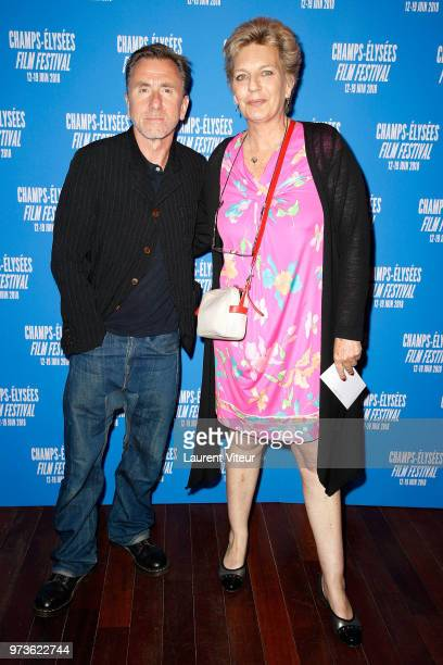 Actor Tim Roth and President of Festival Sophie Dulac attend the 7th Champs Elysees Film Festival at Publicis Cinema on June 13 2018 in Paris France