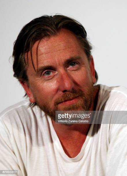 Actor Tim Roth speaks to members of a child jury during a press conference at the Giffoni Film Festival on July 19 2008 in Giffoni Italy