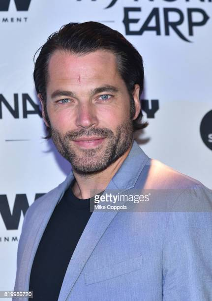 Actor Tim Rozon at the 'Wynonna Earp' Media Mixer with cast and Fan Appreciation Party during ComicCon International 2017 on July 20 2017 in San...
