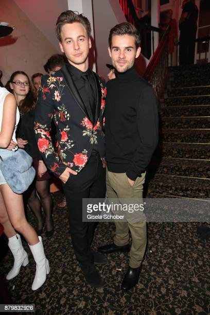 Actor Timmi Trinks and actor Lucas Reiber during the New Faces Award Style 2017 at 'The Grand' hotel on November 15 2017 in Berlin Germany