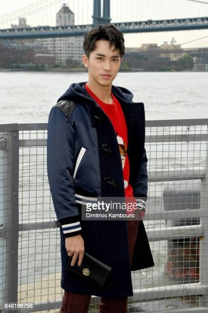 Actor Timmy Xu attends Coach Spring 2018 fashion show during New York Fashion Week at Basketball City Pier 36 South Street on September 12 2017 in...
