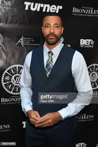 Actor Timon Kyle Durrett at 2017 BronzeLens Film Festival Women SuperStars Luncheon at Westin Peachtree Plaza on August 25 2017 in Atlanta Georgia