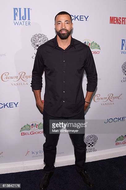 Actor Timon Kyle Durrett attends the Men's Fitness Game Changers Celebration at Sunset Tower Hotel on October 10 2016 in West Hollywood California