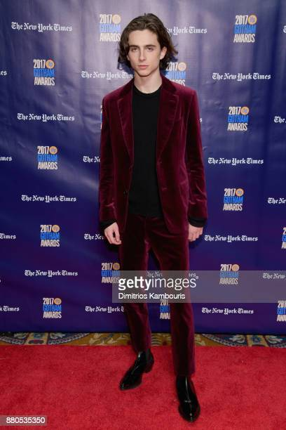 Actor Timothée Chalamet attends IFP's 27th Annual Gotham Independent Film Awards on November 27 2017 in New York City