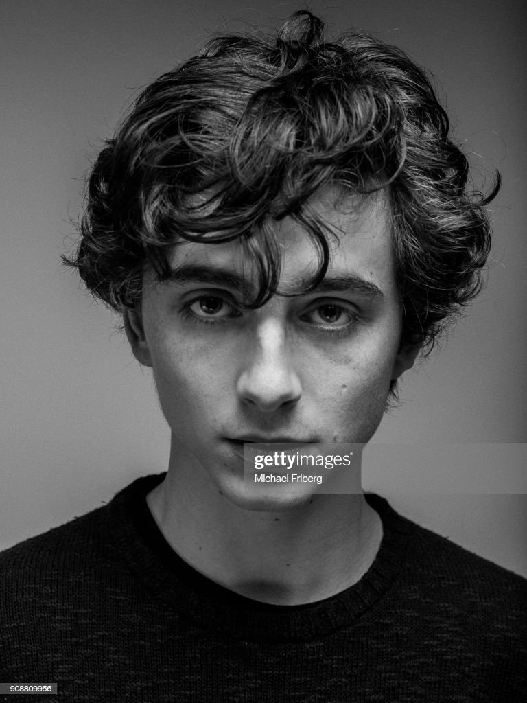 Actor TimothÈe Chalamet is photographed on January 23rd, 2017 in Salt Lake City, Utah.