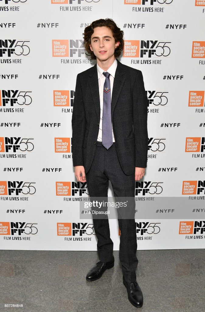 Actor Timothee Chalamet attends a screening of 'Call Me by Your Name' during the 55th New York Film Festival at Alice Tully Hall on October 3, 2017 in New York City.