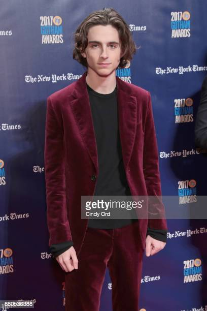 Actor Timothee Chalamet attends IFP's 27th Annual Gotham Independent Film Awards on November 27 2017 in New York City