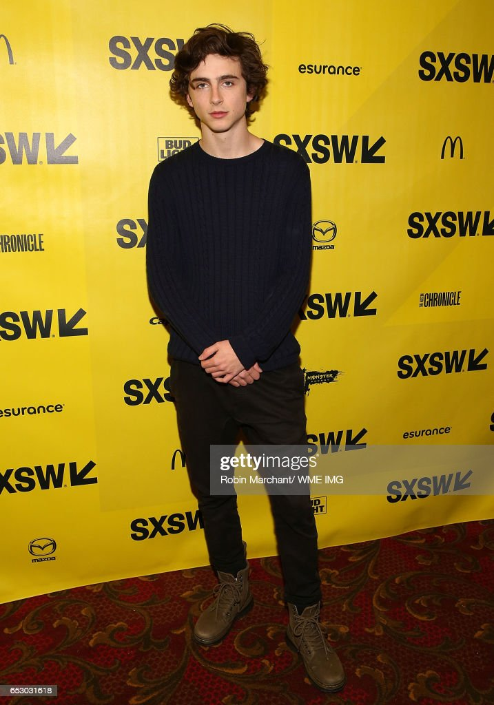 Actor Timothee Chalamet attends Imperative Entertainment's 'Hot Summer Nights' SXSW world premiere at Paramount Theatre on March 13, 2017 in Austin, Texas.