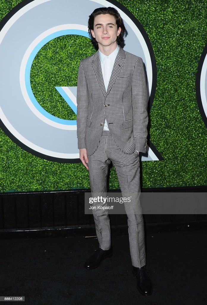 Actor Timothee Chalamet attends the 2017 GQ Men Of The Year Party at Chateau Marmont on December 7, 2017 in Los Angeles, California.