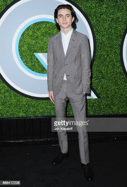 Actor Timothee Chalamet attends the 2017 GQ Men Of The Year Party at Chateau Marmont on December 7 2017 in Los Angeles California