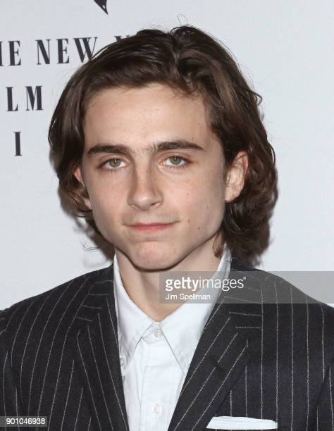 Actor Timothee Chalamet attends the 2017 New York Film Critics Awards at TAO Downtown on January 3 2018 in New York City