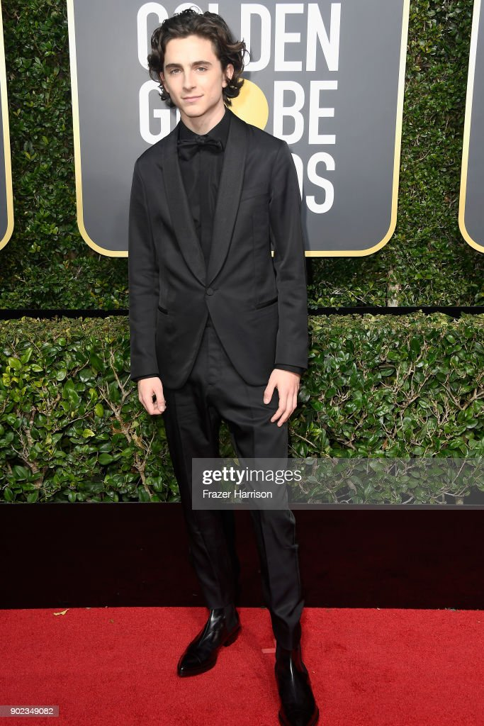 Actor Timothee Chalamet attends The 75th Annual Golden Globe Awards at The Beverly Hilton Hotel on January 7, 2018 in Beverly Hills, California.