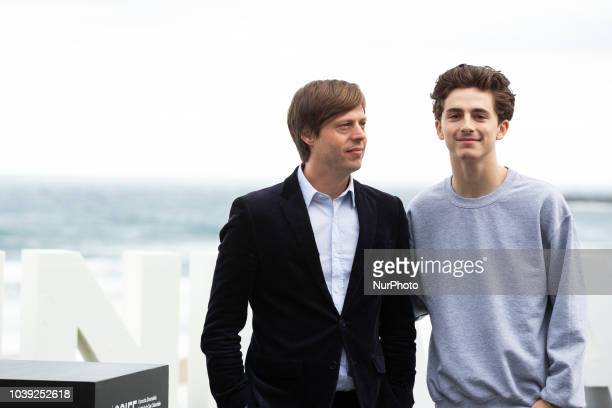 Actor Timothee Chalamet attends the 'Beautiful Boy' photocall during the 66th San Sebastian International Film Festival on September 24 2018 in San...