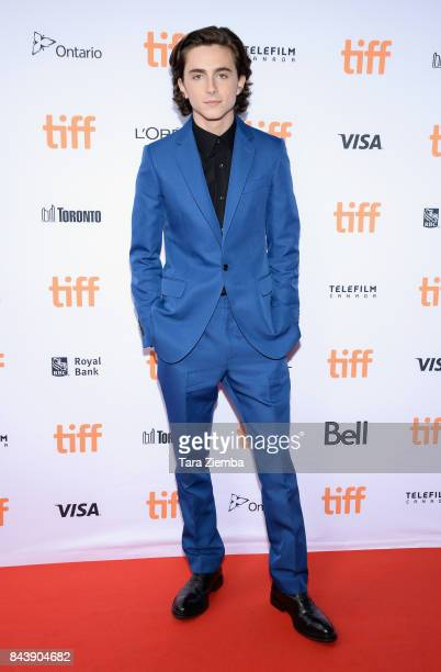 Actor Timothee Chalamet attends the 'Call Me By Your Name' premiere during the 2017 Toronto International Film Festival at Ryerson Theatre on...