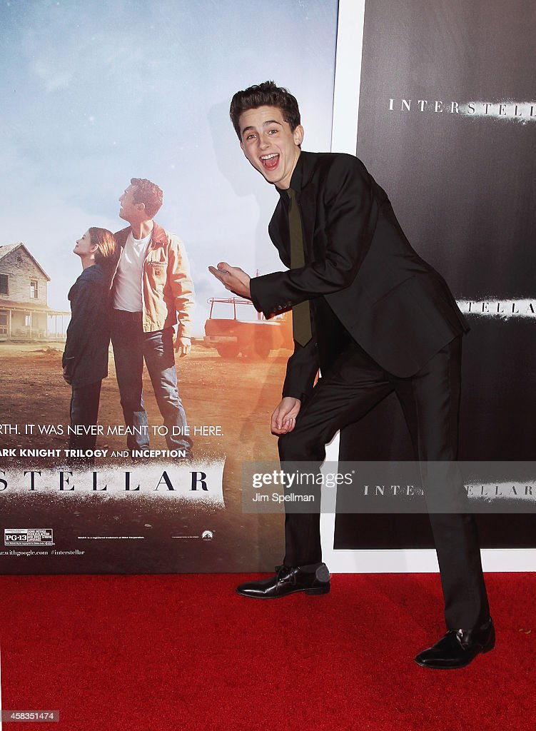Actor Timothee Chalamet attends the 'Interstellar' New York Premiere at AMC Lincoln Square Theater on November 3, 2014 in New York City.