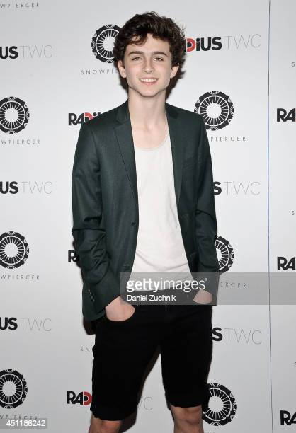Actor Timothee Chalamet attends the Snowpiercer premiere at Museum of Modern Art on June 24 2014 in New York City