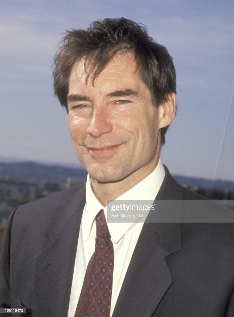 Actor Timothy Dalton attends the 1991 BAFTA/LA Britannia ...