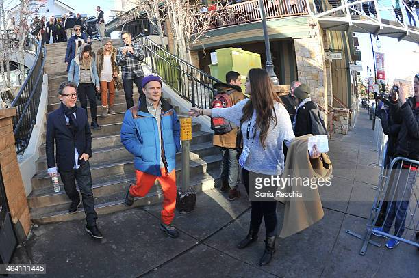 Actor Timothy Daly and actor/ musician Flea are seen at the 2014 Sundance Film Festival on January 20 2014 in Park City Utah