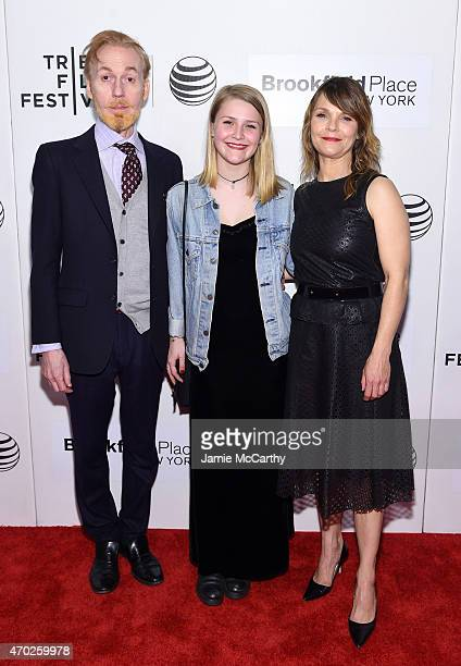 Actor Timothy Doyle Maeve Elsbeth Erbe Kinney and actress Kathryn Erbe attend the premiere of 'Tumbledown' during the 2015 Tribeca Film Festival at...