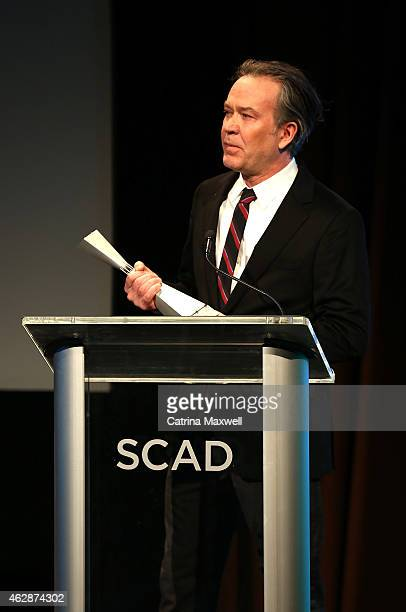 Actor Timothy Hutton accepts the Icon Award during aTVfest presented by SCAD on February 6 2015 in Atlanta Georgia
