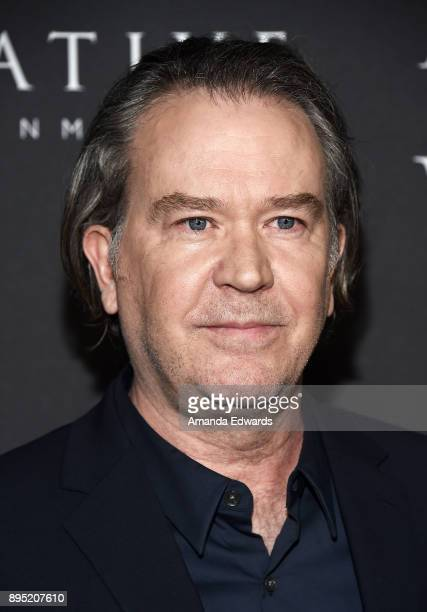 Actor Timothy Hutton arrives at the premiere of Sony Pictures Entertainment's All The Money In The World at the Samuel Goldwyn Theater on December 18...