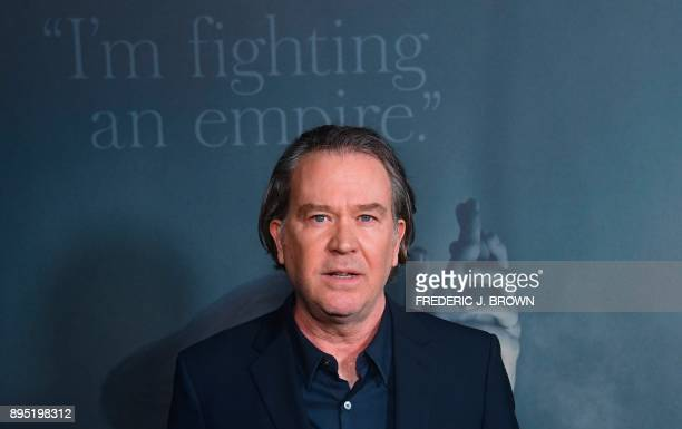 Actor Timothy Hutton arrives for the premiere of the film All The Money In The World in Beverly Hills California on December 18 2017 / AFP PHOTO /...