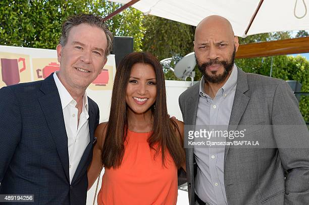 Actor Timothy Hutton Gayle Ridley and writer/producer John Ridley attend the 2015 BAFTA Los Angeles TV Tea at SLS Hotel on September 19 2015 in...