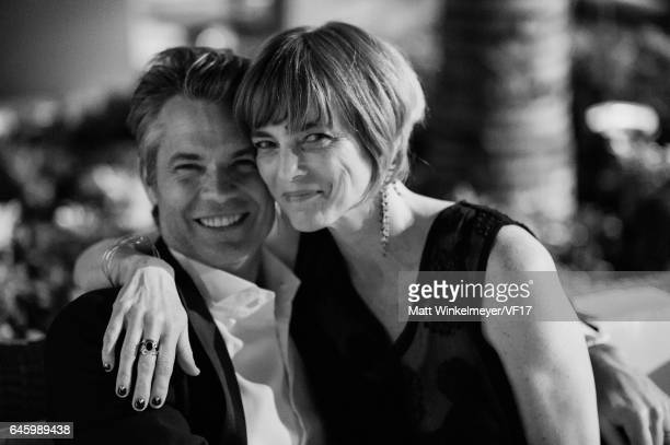 Actor Timothy Olyphant and Alexis Knief attend the 2017 Vanity Fair Oscar Party hosted by Graydon Carter at Wallis Annenberg Center for the...
