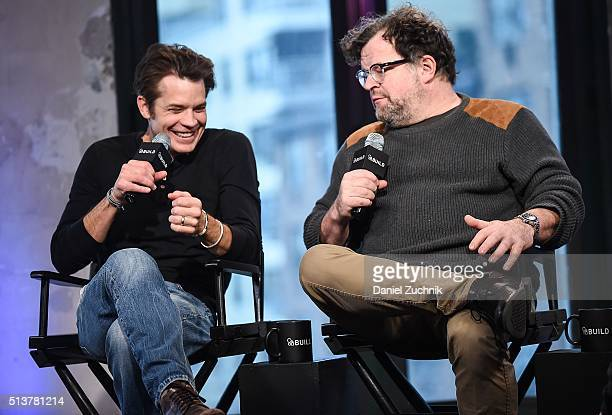"""Actor Timothy Olyphant and playwright Kenneth Lonergan attend AOL Build to discuss their broadway show """"Hold On To Me Darling"""" at AOL Studios on..."""