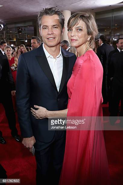 Actor Timothy Olyphant and wife Alexis Knief at the 74th annual Golden Globe Awards sponsored by FIJI Water at The Beverly Hilton Hotel on January 8...
