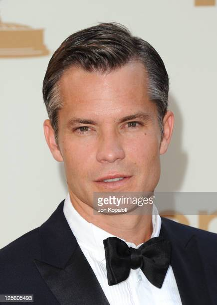 Actor Timothy Olyphant arrives at the 63rd Primetime Emmy Awards held at Nokia Theatre LA Live on September 18 2011 in Los Angeles United States